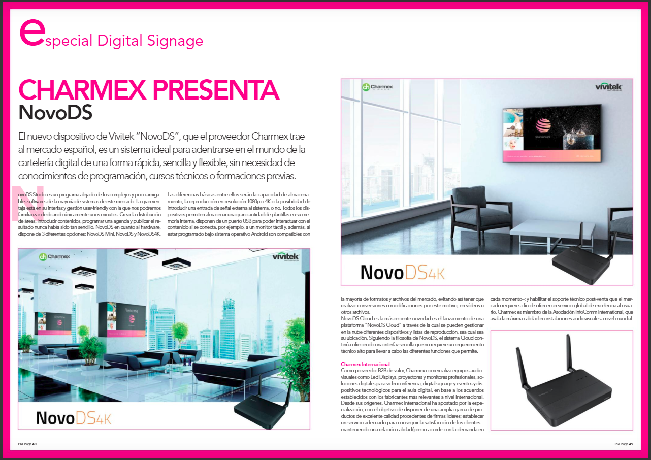 Special Digital Signage: Charmex presents NovoDS