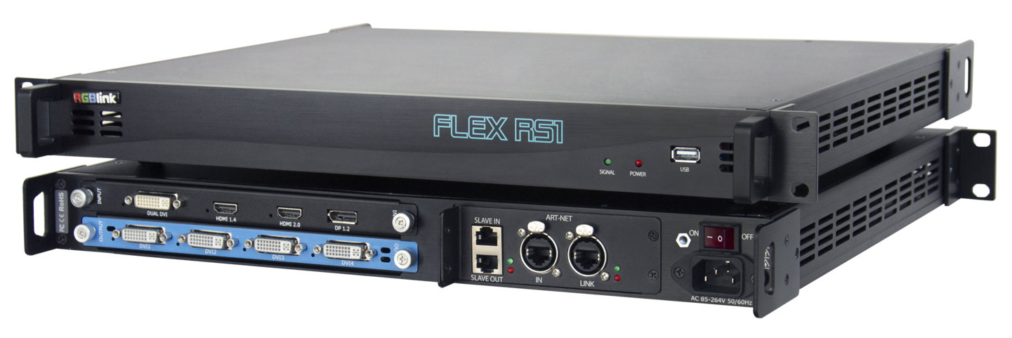 The RGBlink Flex RS1 rotation and combination processor is now available at Charmex