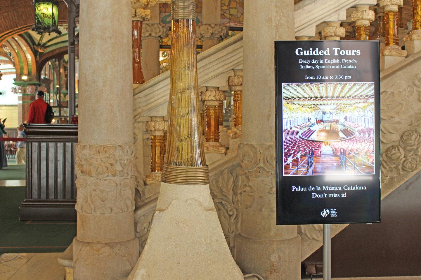 Monitors and software at the Palau de la Música Catalana
