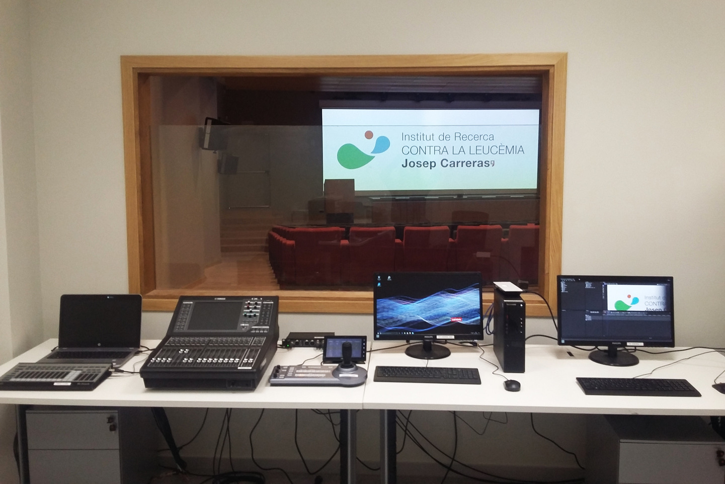 Charmex supplies the latest in audiovisual technology to the Josep Carreras Leukemia Research Institute