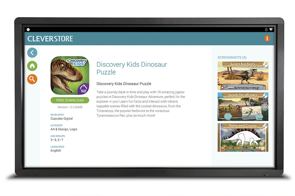 Relax in the classroom with interactive monitors