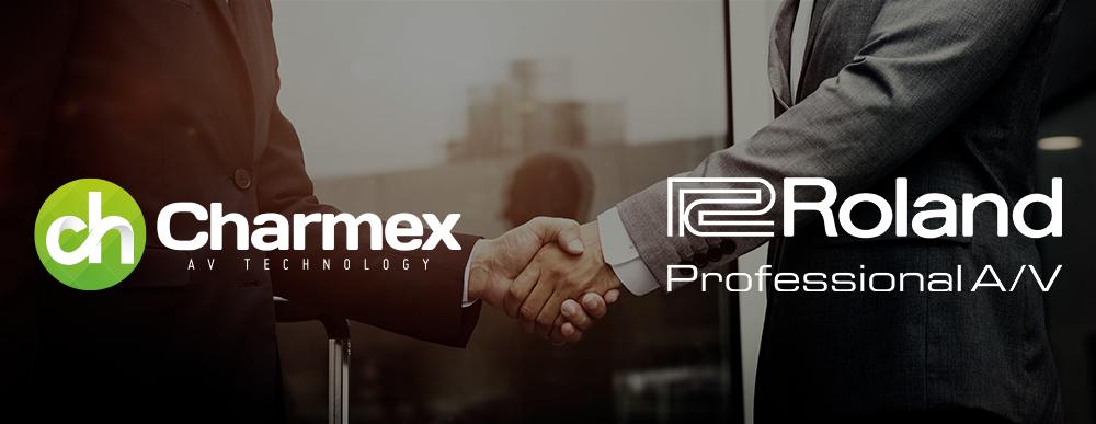 Roland ProAV y Charmex firman un acuerdo de distribución europeo