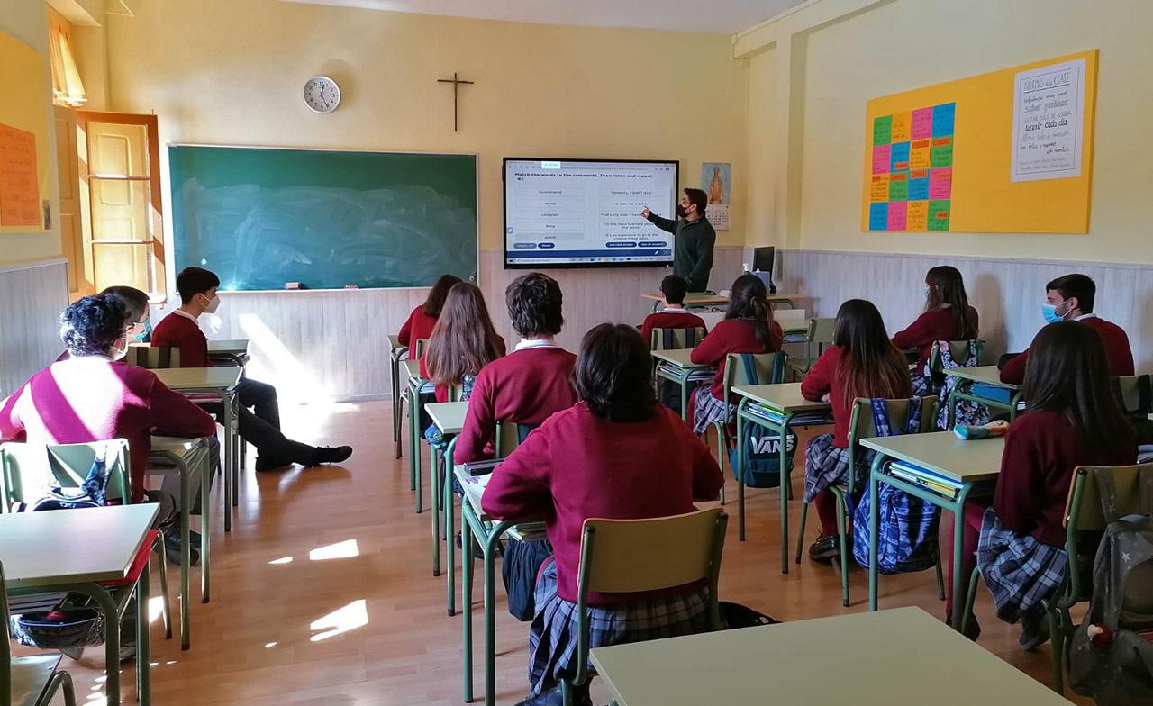 Monitores interactivos para el aprendizaje cooperativo en el aula