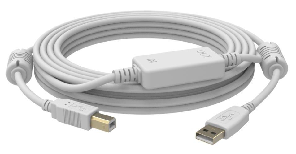 VISION CABLE ACTIVO USB A-B (M-M) 15 METROS BLANCO_0