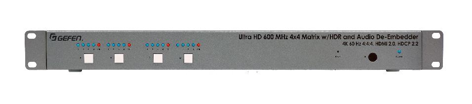GEFEN MATRIZ HDMI 4x4 4K 60HZ 4:4:4 EXTRACCION DE AUDIO_0