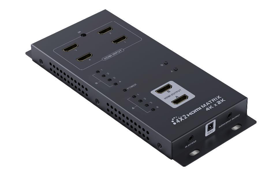 MATRIZ HDMI 4x2 (4K x 2K) CON SALIDA AUDIO_0