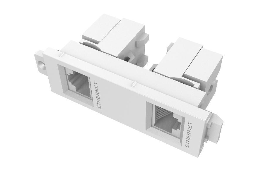 MODULO DOBLE RJ45 TECHCONNECT TC3_0