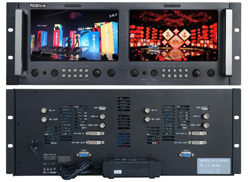 MONITOR RMS8424S 4U DUAL LCD (CVBS/DVI/VGA/HDMI)_0