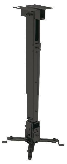 SOPORTE PARA PROYECTOR DE TECHO TRAULUX 430-650mm NEGRO_0