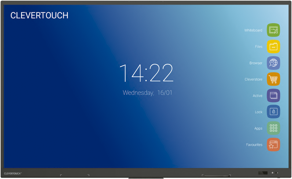 """MONITOR CLEVERTOUCH IMPACT PLUS 86"""" V2_0"""